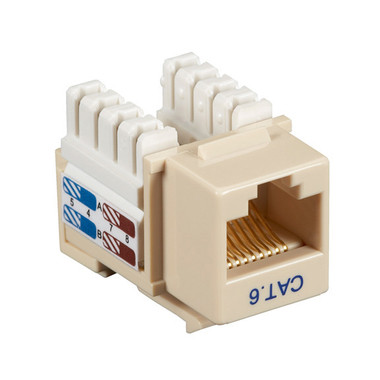 CAT6 Value Line Keystone Jack, Ivory, 10-Pack