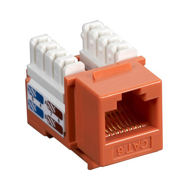 CAT6 Value Line Keystone Jack, Orange, 25-Pack