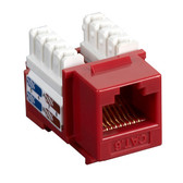 CAT6 Value Line Keystone Jack, Red, 10-Pack