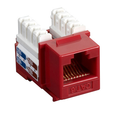 CAT6 Value Line Keystone Jack, Red, 25-Pack