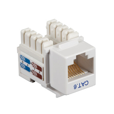 CAT6 Value Line Keystone Jack, White, 5-Pack