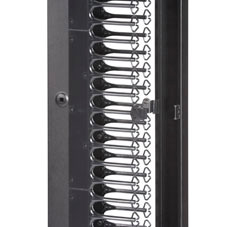 Deluxe Vertical Cable Manager, 45U, Single-Sided, 6in