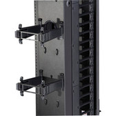 Elite  Vertical Cable Manager Rear Post & Gate Kit, (10) Sets, 12in