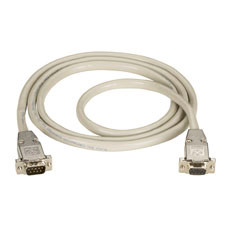 DB9 Extension Cable with EMI/RFI Hoods, Beige, Male/Female, 20-ft. (6.0-m)