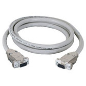 DB9 Extension Cable with EMI/RFI Hoods, Beige, Female/Female, 50-ft. (15.2-m)