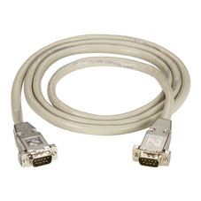 DB9 Extension Cable with EMI/RFI Hoods, Beige, Male/Male, 75-ft. (22.8-m)