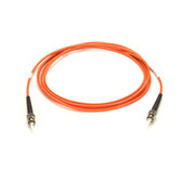 Premium Ceramic, Multimode, 62-5-Micron Fiber Optic Patch Cable, ST ST, Simplex, Riser, 2-m (6.5-ft.)