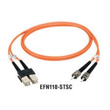 Premium Ceramic, Multimode, 62-5-Micron Fiber Optic Patch Cable, ST ST, Duplex, Riser, 5-m (16.4-ft.)