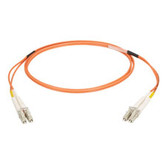Multimode, 50-Micron Duplex Fiber Optic Cable, PVC, LC LC, 3-m (9.8-ft.)