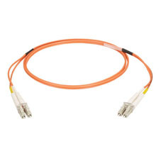 Multimode, 50-Micron Duplex Fiber Optic Cable, PVC, LC LC, 5-m (16.4-ft.)