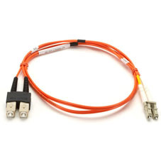 Multimode, 50-Micron, Duplex Fiber Optic Patch Cable, PVC, 3-m (9.8-ft.)