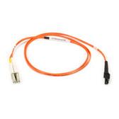Multimode, 50-Micron Duplex Fiber Optic Cable, PVC, MT-RJ LC, 3-m (9.8-ft.)