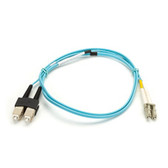 10-Gigabit Multimode, 50-Micron FO Patch Cable, Zipcord, PVC, LC SC, 1-m (3.2-ft.)