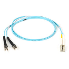 10-Gigabit Multimode, 50-Micron Fiber Optic Patch Cable, Zipcord, PVC, LC ST, 1-m (3.2-ft.)