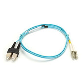 10-Gigabit Multimode, 50-Micron Fiber Optic Patch Cable, Zipcord, PVC, LC SC, 2-m (6.5-ft.)