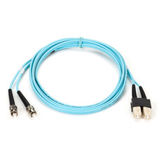 10-Gigabit Multimode, 50-Micron Fiber Optic Patch Cable, Zipcord, PVC, ST SC, 2-m (6.5-ft.)