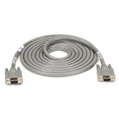 Extended-Distance/Quiet Cable with Nonremovable EMI/RFI Hoods, Stranded, DB9, Straight-Wired, 9 (4 1/2 Pairs) All Pins, 5-ft. (1.5-m), FF