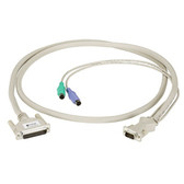 CPU/Server to ServSwitch Cable with Audio, PC, PS/2 Coax, 5-ft. (1.5-m)