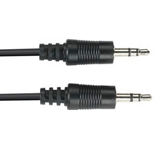3.5-mm Stereo Audio Cable, 24 AWG, Male/Male, 15-ft. (4.5-m)