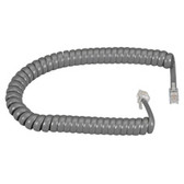 RJ-22 Modular Coiled Handset Cord, Dark Gray, 6-ft. (1.8-m)