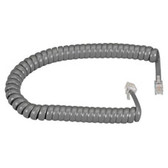 RJ-22 Modular Coiled Handset Cord, Dark Gray, 25-ft. (7.6-m)