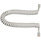 RJ-22 Modular Coiled Handset Cord, Light Gray, 25-ft. (7.6-m)