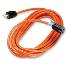 Indoor/Outdoor Utility Cord, Single-Outlet, 14/3 Grounded, Heavy-Duty, Orange, 50-ft. (15.2-m)