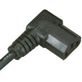 North American PC/Monitor Power Cord, NEMA 5-15P to IEC-60320-C13 (Right Angle), 6-ft. (1.8-m)
