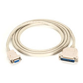 Premium AT Modem Cable, DB9 Female/DB25 Male, 9-Conductor, 24 AWG, 6-ft. (1.8-m)