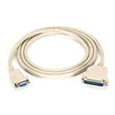 Premium AT Modem Cable, DB9 Female/DB25 Male, 9-Conductor, 24 AWG, 50-ft. (15.2-m)