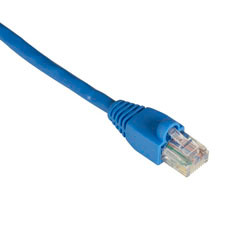 GigaBase 350 CAT5e Patch Cable (UTP) with Snagless Boots, Crossover, Blue, 6-ft. (1.8-m)