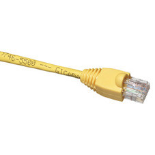 GigaBase 350 CAT5e Patch Cable (UTP), Snagless Boots, Crossover, 10-ft. (3.0-m), Yellow