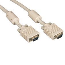 VGA Video Cable with Ferrite Core, Beige, Male/Male, 25-ft. (7.6-m)
