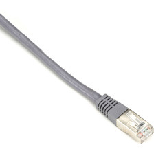 CAT5e 100-MHz Shielded, Stranded PVC Cable, (SSTP PIMF), PVC, Gray, 6-ft. (1.8-m)
