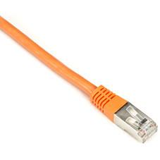 CAT6 250-MHz Shielded, Stranded Cable SSTP (PIMF), PVC, Orange, 15-ft. (4.5-m)