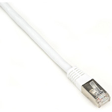 CAT6 250-MHz Shielded, Stranded Cable SSTP (PIMF), PVC, White, 15-ft. (4.5-m)