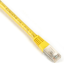 CAT6 400-MHz, Shielded, Solid Backbone Cable (FTP), PVC, Yellow, 25-ft. (7.6-m)