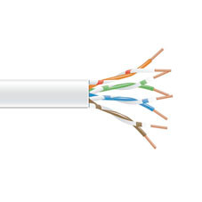 GigaTrue 550 CAT6, 550-MHz Stranded Bulk Cable, 4-Pair, PVC, 24 AWG, White, 1000-ft. (304.8-m)