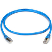 CAT5 Shielded Twisted-Pair Cable (STP) with Molded Boots, T568B, 4-Pair, RJ-45, Solid, Plenum-Rated, NEC  CMP, Blue, 5-ft. (1.5-m)