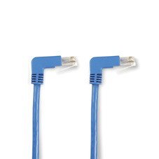 SpaceGAIN CAT6 250-MHz Angled Patch Cable (UTP), 90  Down 90  Down, Blue, 6-ft. (1.8-m)