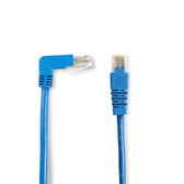 SpaceGAIN CAT5e 100-MHz Angled Patch Cable (UTP), 90  Down 180  Straight, Blue, 6-ft. (1.8-m)