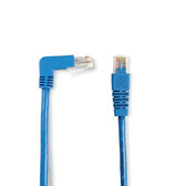 SpaceGAIN CAT5e Shielded, Stranded, 100-MHz Angled Patch Cable (F/UTP), 90  Down Straight, Green, 15-ft. (4.5-m)