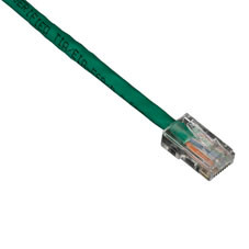 GigaBase 350 CAT5e Patch Cable, Basic Connectors, Green, 7-ft. (2.1-m)