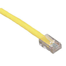 GigaBase 350 CAT5e Patch Cable, Basic Connectors, Yellow, 5-ft. (1.5-m)