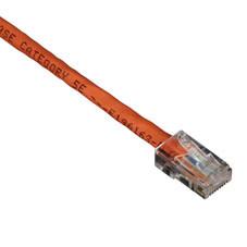 GigaBase 350 CAT5e Patch Cable, Basic Connectors, Orange, 50-ft. (15.2-m)