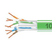 GigaTrue  550 CAT6, 550-MHz Solid Bulk Cable, Plenum (CMP), 1000-ft. (304.8-m), Green