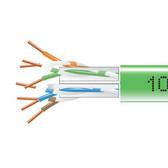 GigaTrue  550 CAT6, 550-MHz Solid Bulk Cable, Plenum (CMP), 1000-ft. (304.8-m), Green