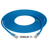 CAT6a F/UTP Patch Cable, LS0H, PVC, Stranded, 5-m (16.4-ft.), Blue