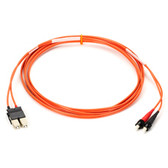 Multimode, 62.5-Micron, Multicolored Fiber Optic Patch Cable, ST-SC, Orange, 10-m (32.8-ft.)