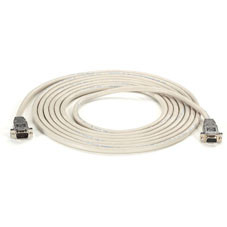 DB9 Serial Null-Modem Cable, DB9 Male/DB9 Female, 15-ft. (4.5-m)